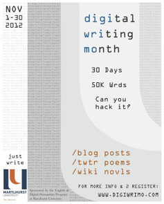 Back to Blogging: NaNoWriMo, DigiWriMo, & 2013 - Educational ... | #digiwrimo: Digital Writing Month | Scoop.it