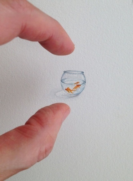 An artist created itty-bitty paintings every day for a year. Here are 15 of them. | Vloasis awesome sauce | Scoop.it