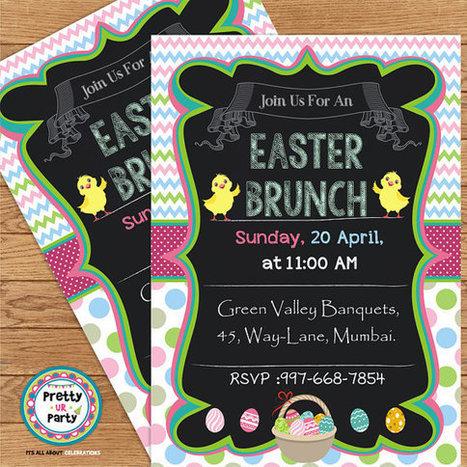 Chalkboard Easter Brunch Invitations  - DIY Custom Printable Invitation   Personalised Return Gift   Scoop.it