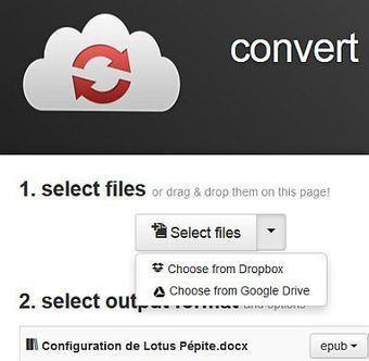 CloudConvert - Convertir une centaine de formats de fichiers en ligne | Geeks | Scoop.it