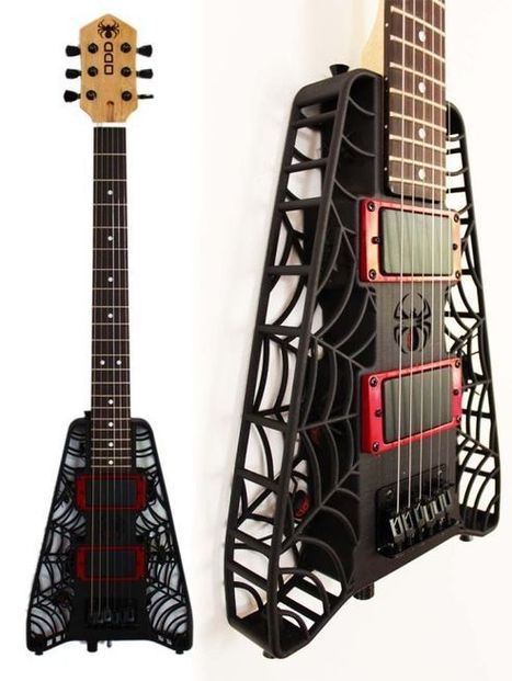 3D printed spider web guitar is a treat for the eye and sweet ... | Around the Music world | Scoop.it