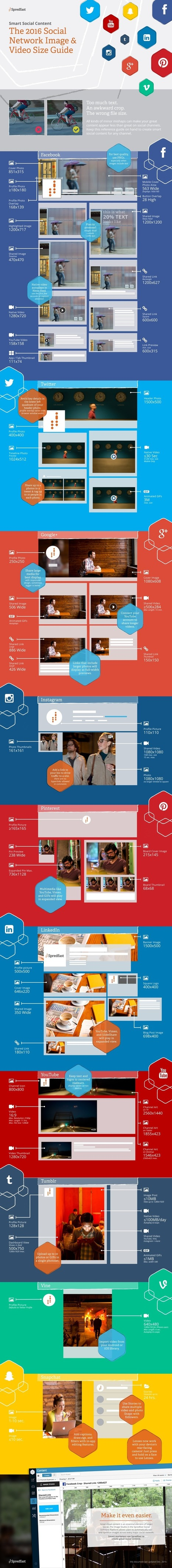 Infographic: Social Network Image & Video Size Guide   Digital Marketing & E-Commerce   Scoop.it