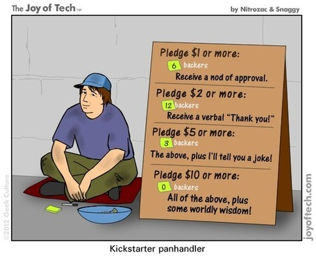 Kickstarter Panhandling [COMIC] | Crowdfunding World | Scoop.it