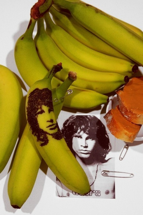 Talented Artist Tattoos Celebrity Portraits on Bananas | Strange days indeed... | Scoop.it
