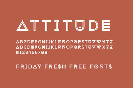 Friday Fresh Free Fonts - Attitude, Quark, ... | Abduzeedo Design Inspiration & Tutorials | Communication Création | Scoop.it