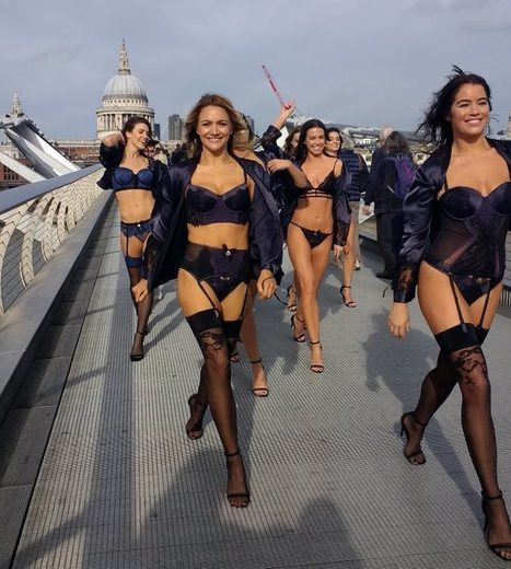 Hunkemöller Fashion Show Hits The Millennium Bridge In London - Lingerie Blog | Styles, Offers and News | Lingerie | Scoop.it
