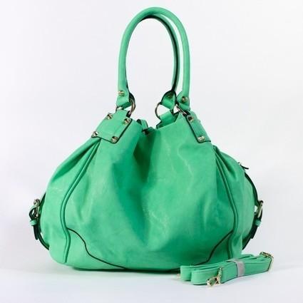 Grand sac à main boule façon cuir marron camel ou vert d'eau   Accessoires de mode femme   Scoop.it