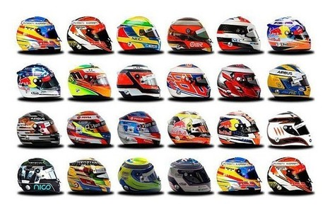 2014 F1 Season: Driver helmets | Everything from Social Media to F1 to Photography to Anything Interesting | Scoop.it