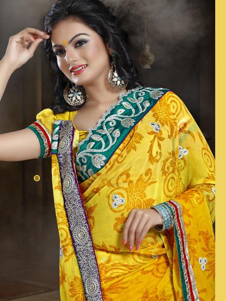 Buy Printed Sarees | Surat Sarees Online from JagdambaSarees | Scoop.it