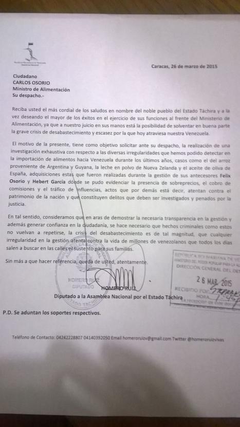 Dip. Homero Ruiz: El nuevo ministro de Alimentación debe investigar importaciones fraudulentas y con sobreprecio | EL MUNDO CON JULIA VERONICA | Scoop.it