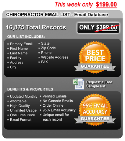 Chiropractic Email Lists & Chiropractor Email Marketing | Medical Mailing Lists | Scoop.it