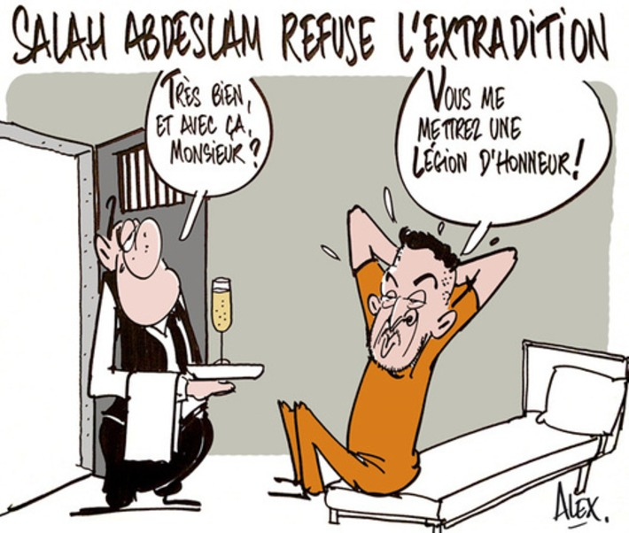 Salah Abedslam refuse l'extradition | Baie d'humour | Scoop.it
