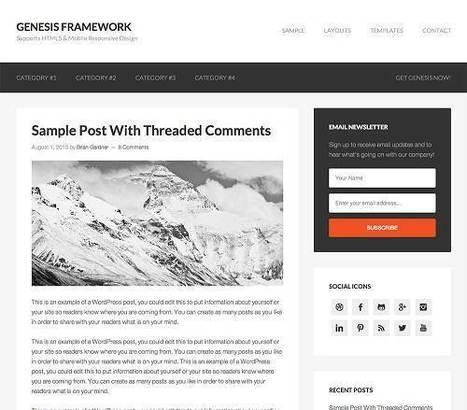 Genesis Framework 2.0.1 - Free Wordpress Themes | Download Premium themes | Scoop.it