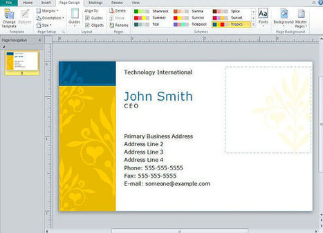 Creating Business Cards in Microsoft Publisher | PowerPoint Presentation | Microsoft Publisher Training | Scoop.it