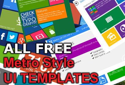 9 FREE Metro Style UI templates Review | Daily Design Notes | Scoop.it