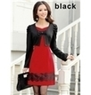 New Fashion Slim Fake Two Pieces Long Sleeves Knit Dress   the fashion clothes shoes dress bags   Scoop.it