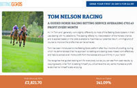 Tom Nelson Racing | Betting Systems Reviews | Betting Systems Reviews | Scoop.it