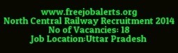North Central Railway Recruitment 2014 Walk-in's in U.P | careerit jobs | Scoop.it
