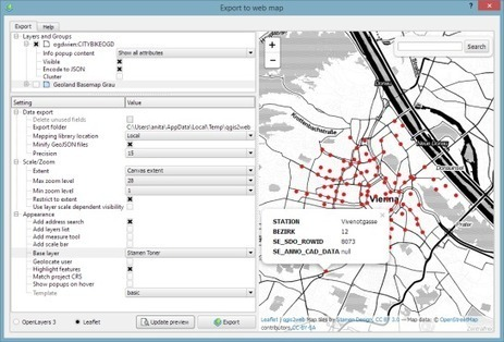 Quick webmaps with qgis2web | Free and Open Source GIS Ramblings | Geomobile | Scoop.it