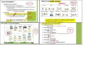 «Web 2.0 et formation : enjeux, outils et pratiques» (diaporama) | E-apprentissage | Scoop.it