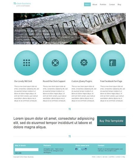 20 Free Business HTML/CSS Templates | Web Creations 101 | Scoop.it