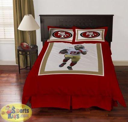 NFL Bedding - San Francisco 49ers Frank Gore Comforter Set | NFL Bedding Sets - Sportskids.com | Scoop.it