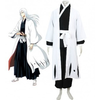 Bleach Gotei Thirteen Jūshirō Ukitake Captain of the 13th Division Soul Reaper Kimono Cosplay Costumes | Cosplay Costumes | Scoop.it