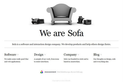 50 Beautiful Clean and Simple Web Designs | iPhone Development Weitze | Scoop.it