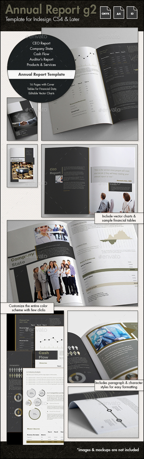 Annual Report Template g2 - A4 Portrait | About Design | Scoop.it