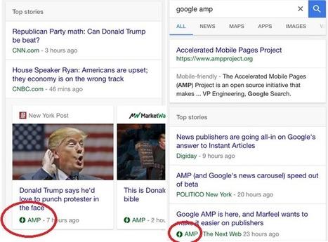 Google commence à afficher des pages AMP | Presse-Citron | SI mon projet TIC | Scoop.it
