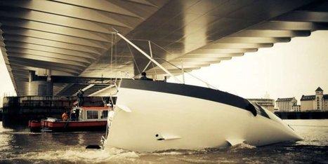 Bordeaux : un voilier se couche pour passer sous le pont Chaban ... | DIVERS | Scoop.it