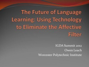 Using Technology to Eliminate the Affective Filter | Owen Leach | Technology and language learning | Scoop.it