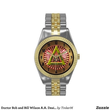 Doctor Bob and Bill Wilson A.A. Designer Watch from Zazzle.com | Alcoholics Anonymous Gifts | Scoop.it