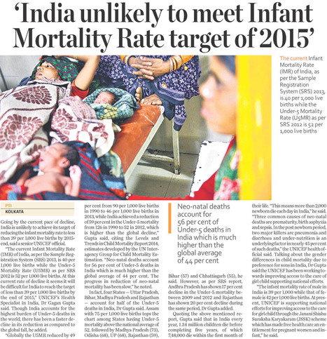 India unlikely to meet Infan Mortality Rate target of 2015 | General  & Corruption | Scoop.it