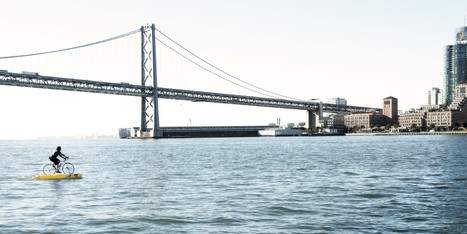 Man Uses 'Water Bike' To Commute Across San Francisco Bay & Hudson River   Environmental Issues   Scoop.it