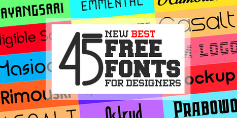 45 New Handpicked Free Fonts for Designers | DESIGN | Scoop.it