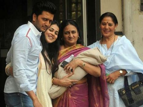 Proud parents Riteish Deshmukh and Genelia D'souza pose for a baby picture! - DailyBuzzes.com | BollyWood Gossips | Scoop.it