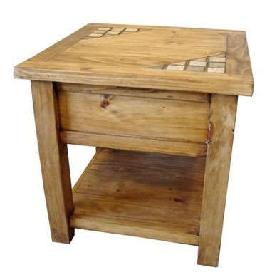 Marble And Solid Wood Rustic Bedroom End Table Furniture | old world furniture | Scoop.it