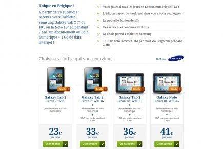 Le Soir offre une tablette pour stimuler le numérique payant - LaPresse.ca | presse en ligne | Scoop.it