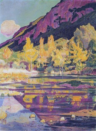 Aan de voet van de Petit Drosnieres en 1893 - Olieverfschilderijen | Landscapes oil paintings | Scoop.it