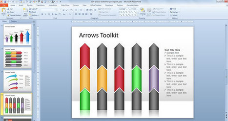 Free Arrows Toolkit for PowerPoint Presentations (free download) | test | Scoop.it