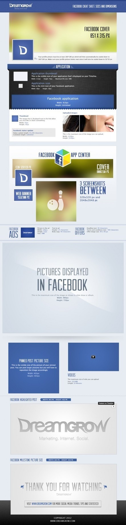 Facebook Cheat Sheet: Sizes and Dimensions | Social Media Marketing - SMO | Scoop.it