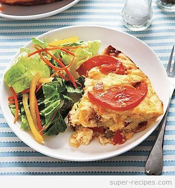 Cheesy Savory Bread Pudding | Recipes | Scoop.it