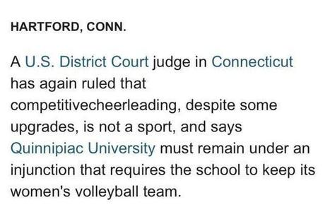 Twitter / ChannyRash12: Cheer's definitely not a sport. ... | Health and Physical Education | Scoop.it