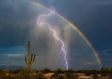 Lightning And Rainbow Captured Together In Once In A Lifetime Shot | Beautiful Things | Scoop.it