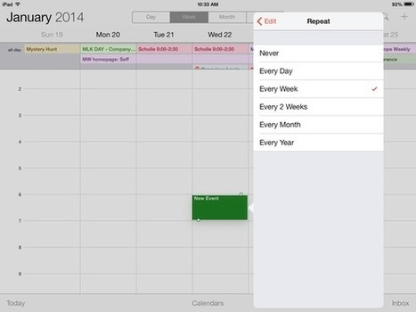 Scheduling recurring events on iOS | Macworld | All Things Mac | Scoop.it