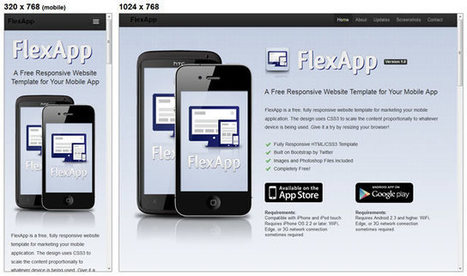 20 Free Responsive HTML & CSS Templates | Responsive design & mobile first | Scoop.it