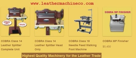 Get the Right Kind of Leather Machinery for Your Production | Leather Sewing Machine | Scoop.it