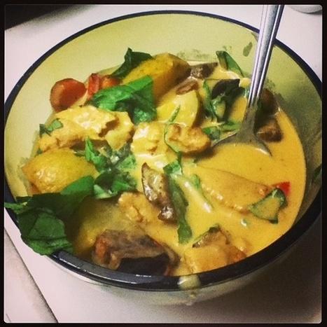 Fully Loaded Vegan Green Curry Recipe - Go Dairy Free   My Vegan recipes   Scoop.it