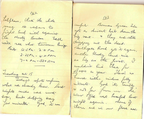 London War Diary: Tuesday October 15th 1940   London War Diary. Original written pages. 1940   Scoop.it